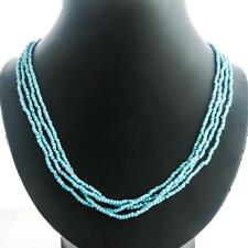 "24"" 4 Strand Turquoise Seed Beads Long necklace"
