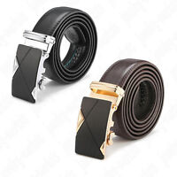 High Quingity Fashion Men's Leather Automatic Buckle Waist Strap Belt Waistband