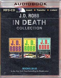 J D Robb In Death Series Books 30-32 Fantasy Indulgence Treachery Unabridged MP3