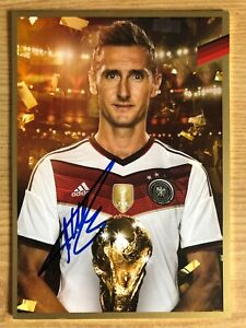 Miroslav Klose Ak DFB 2014 Gold Edition Autograph Card Original Signed
