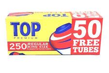 Top King Size Cigarette Filter Tubes Full Flavor Red box 250 Filter Tube New USA