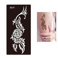 Henna Tattoo Schablone Airbrush Stencil Blume Rose Kina Dövme