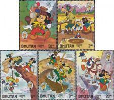 Topical Stamps Never Hinged 1991 Walt-disney-figures Bhutan Block305 Unmounted Mint Stamps