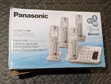 Panasonic Kx-tge274s Link2cell Bluetooth Cordless Phone With Answer Machine