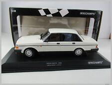 Volvo 240 GL * en Blanc * limité à 504 unités * MINICHAMPS * 1:18 * Neuf dans sa boîte * NOUVEAU