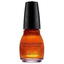 Sinful Colors Professional Nail Polish Enamel, Courtney Orange 0.50 oz