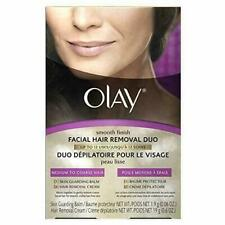 Olay Smooth Finish Facial Hair Removal Duo Medium to Coarse Balm Cream NEW