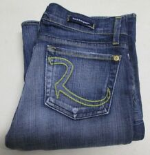 Rock & Republic Roth Rthkr Jeans Low Flare Blue Size 28 Cut 3246