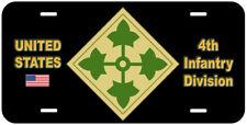 4th Infantry Division Novelty Car License Plate