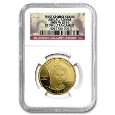 2007-W 1/2 oz Proof Gold Abigail Adams Pf-70 Ngc - Sku #33918