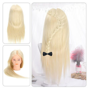 """24"""" Salon Hair Training Head Hairdressing Styling Mannequin Doll +Clamp New"""