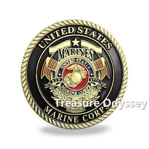 USMC Challenge Coin US Military Service Marines Devil Dog Honor Commemorative