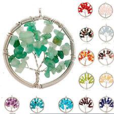 Wholsale Set 14 pcs Tree of life Multi Agate Peridot Amethyst Silver Pendant
