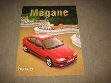 Renault Megane Prospekt Brochure von 7/1997, 50 Seiten