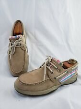 Sperry Top-Sider Girl Intrepid Linen Pink Boat Shoe Youth 5M US 37.5 EU Womens 7