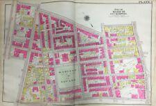 1906 BROMLEY BOSTON, ROXBURY, MA, MADISON SQUARE, SHERWIN SCHOOL, PLAT ATLAS MAP