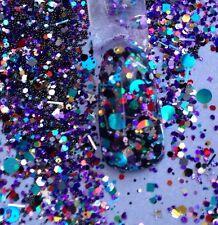 glitter mix acrylic gel nail art    CONFETTI COCKTAIL