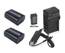 2 Batteries + Charger for Sony DSC-HX200 DSC-HX200V DSC-HX200V/B DSC-HX200VB