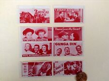 1938~39 Vintage Movie Poster Stamps (x8aa)