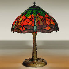 "Kliving 16"" Mitcham E27-60w Tiffany Table Lamp With Stained Glass Shade"