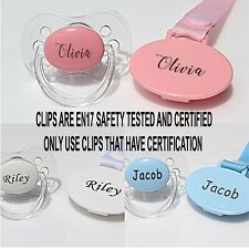 PERSONALISED DUMMY, 3 TEATS, PERSONALISED DUMMY CLIP, EN71 TESTED & CERTIFIED