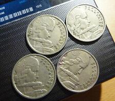 4x Frankrijk 100 francs 1955 (zonder B)  - GOOD QUALITY