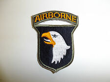 b0837 WW2 US Army 101st Airborne Infantry patch white tongue OD border R3A
