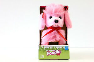 Girls Pink Walking Poodle  See Me Walk Bark & Wag My Tail New