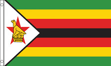 "ZIMBABWE FLAG 18"" X 12"" TREEHOUSE COURTESY CARAVAN SLEEVED FLAGS"