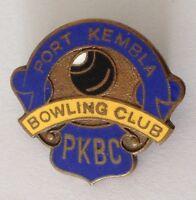 Port Kembla Bowling Club Badge Pin Vintage Lawn Bowls (L32)