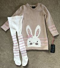 Cynthia Rowley Bunny Tunic Dress W/tights For A 4t Girl NWT