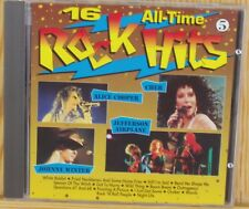 16 all-time rock hits 5 Johnny WINTER, JEFFERSON AIRPLANE, CHER, Alice COOPER