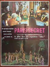 Affiche PARIS-SECRET Edouard Logereau 60x80cm