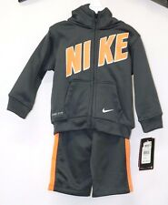 Nike Baby Boys 2 Piece Therma-Fit Print Tracksuit Pants & Hoodie Jacket Size 12M