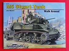 Squadron WWII M5 / M5A1 STUART Tank Walk Around #5719 Jim Mesko Color Book NEW