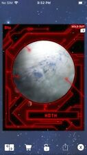 Topps Star Wars Digital Card Trader Red Hoth Worlds Of Star Wars Insert