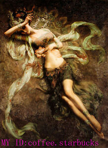 """Art Repro oil painting:""""fairy at canvas"""" 24x36 Inch"""