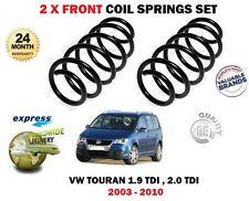 PARA VW TOURAN 1.9 2.0 TDI 04-10 2 x RESORTE HELICOIDAL DELANTERO SET
