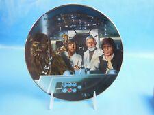 Hamilton Collection Star Wars Plate Crew In Cockpit #0544S Coa