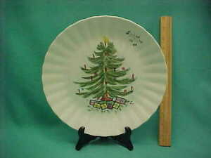 Vintage Blue Ridge Southern Potteries Christmas Tree Mistletoe Dinner Plate