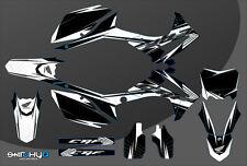 KIT ADESIVI GRAFICHE RACE ONE BLACK HONDA CRF 450 2013 2014 2015 2016