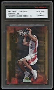LEBRON JAMES 2003-04 UPPER DECK #6 1ST GRADED 10 ROOKIE CARD LAKERS/CAVALIERS
