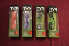 LOT OF 4 TYR KIDS' SWIMPLE GOGGLES...NEVER WORN, IN ORIGINAL PACKAGING