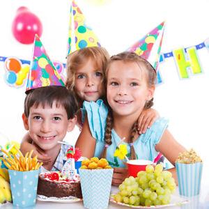 12Pcs Sacs de PopCorn Boîtes frites bonbons Fête Enfant anniversaire en papier