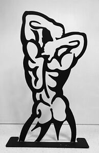 BACK 20inch steel by Wim Griffith Male nude sculpture gay art