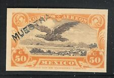 ubb58 Mexico 1922 Sanabria color proof/essay,  ovpt. MUESTRA, MNH