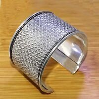 """925 Silver Plated Girl,s Women,s Bangle Cuf Bracelet Jewelry 2.5 """" Inch A09"""