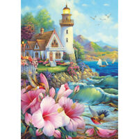 5D DIY Diamond Painting Full Drill Seaside House Cross Stitch Art Picture  #8Y