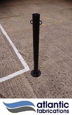 Steel chain link bollard, bolt down 76mm black,  parking post security