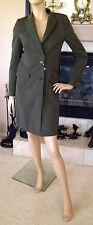 UNIQLO CARINE ROITFELD PARIS WOMEN CHESTER COAT COLOR DARK GREEN NWT SIZE XS